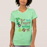 Eat your fruit and Veggies - beige Tees