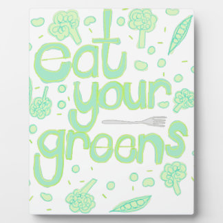 eat your greens plaques