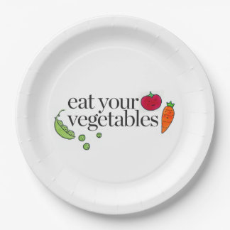 Eat Your Vegetables 9 Inch Paper Plate