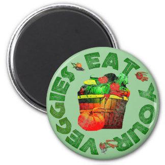 Eat Your Veggies 6 Cm Round Magnet