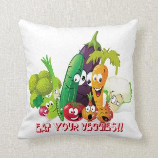 Eat your veggies American MoJo Pillow Cushion