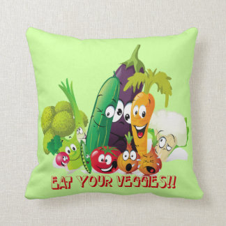 Eat your veggies American MoJo Pillow Throw Cushions