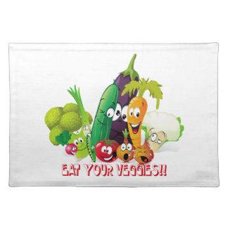 Eat your veggies American MoJo Placemat