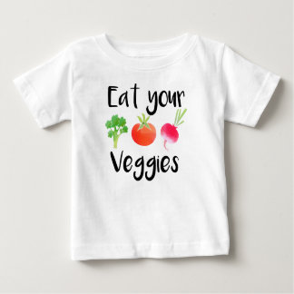 """Eat your veggies"" baby shirt"