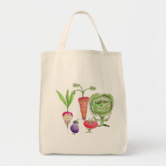 Eat Your Veggies before they eat you Grocery Tote Bag