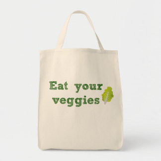 Eat Your Veggies Grocery Tote