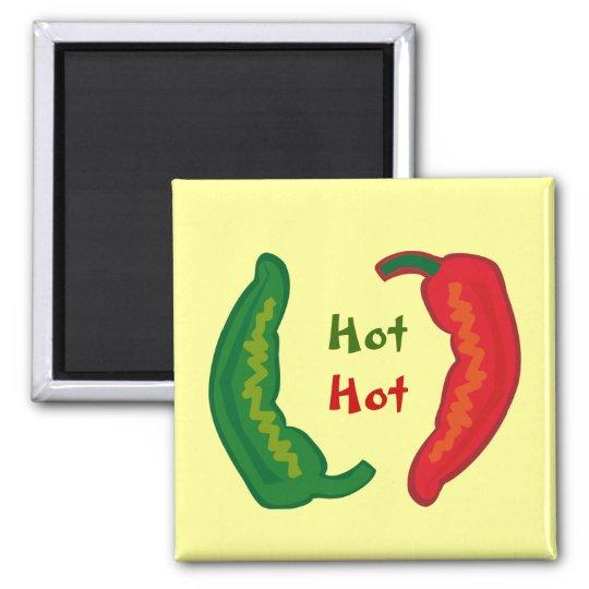 Eat Your Veggies Hot Chilli Jalapeño Fridge Magnet