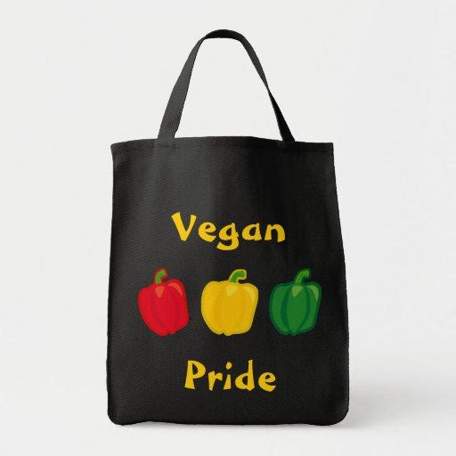Eat Your Veggies Peppers Vegan Pride Tote Bag