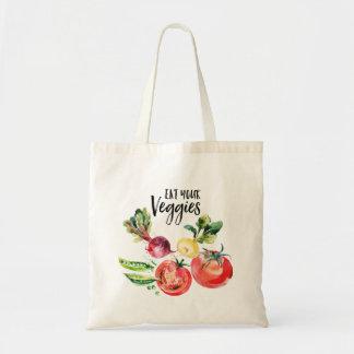 Eat your veggies shopping Tote Bag