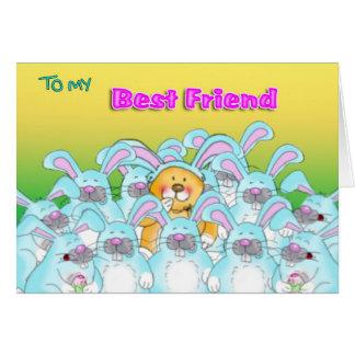 eater bunny best friend card