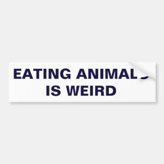 Eating Animals Is Weird Bumper Sticker