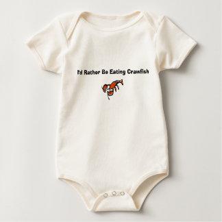 Eating Crawfish Baby Bodysuit