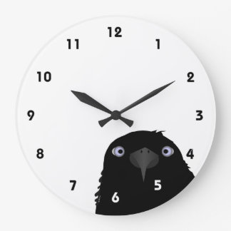 Eating Crow Clock