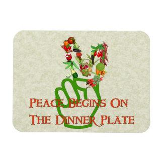 Eating For Peace Rectangular Magnet