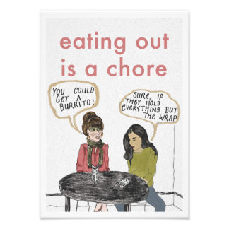 Eating Out Print