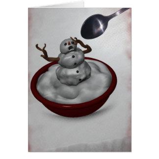 Eating Snowman Card