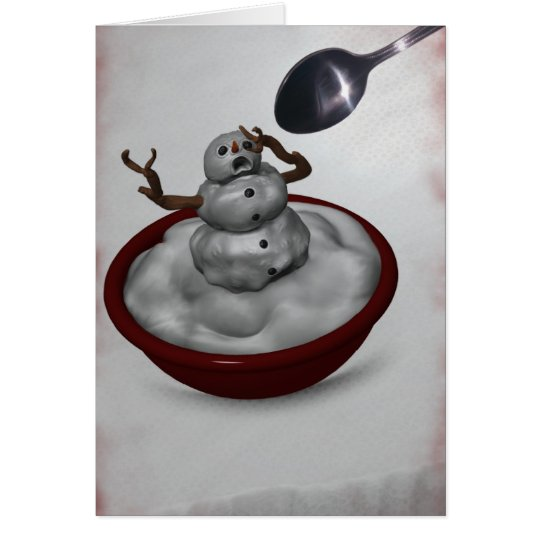 Eating Snowman Card