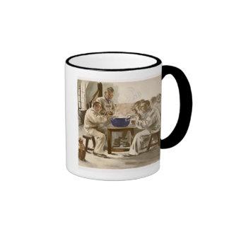 Eating Soup at the Barracks, from 'L'Estampe Moder Mugs