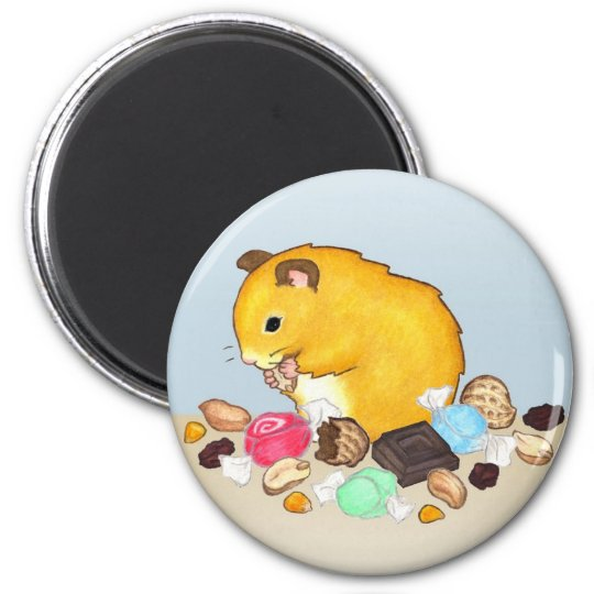 Eating Ted 6 Cm Round Magnet