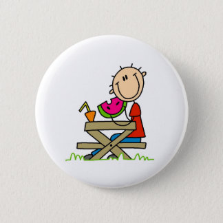 Eating Watermelon 6 Cm Round Badge
