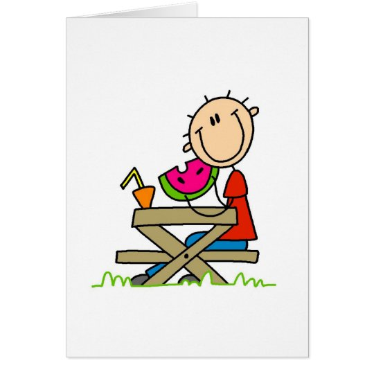 Eating Watermelon Card