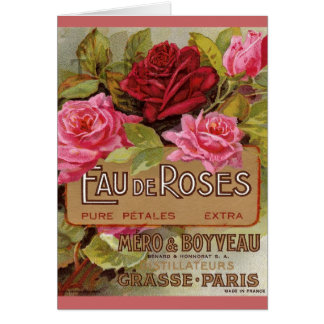 Eau De Roses French Scent Greeting Card