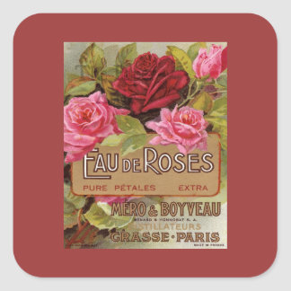 Eau De Roses French Scent Square Stickers