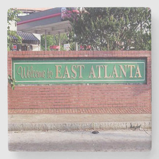 EAV, East Atlanta, Older Welcome Sign, Atlanta, Stone Coaster