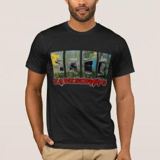 Eavesdrops 4panel redo logo cctp back print T-Shirt