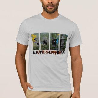 Eavesdrops 4panel stripey logo cctp back print T-Shirt