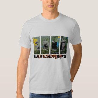 Eavesdrops 4panel stripey logo cctp back print t shirts