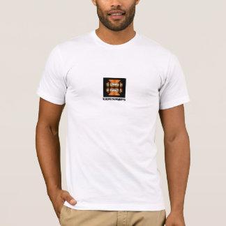 Eavesdrops cross black logo cage back print T-Shirt
