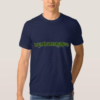 Eavesdrops green logo cctp back print tee shirts