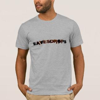 Eavesdrops stripey logo cctp back print T-Shirt