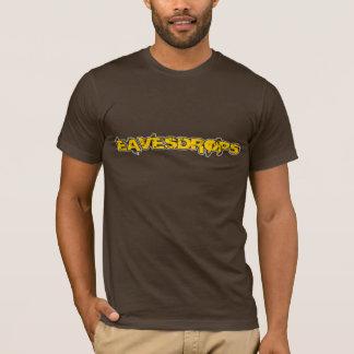Eavesdrops yellow logo cctp back print T-Shirt