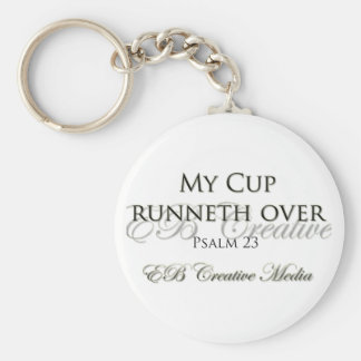 EB Creative Media - My Cup Runneth Over Key Ring