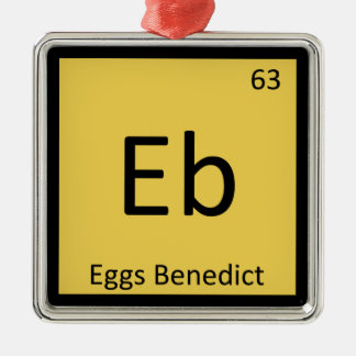 Eb - Eggs Benedict Chemistry Periodic Table Symbol Christmas Ornament
