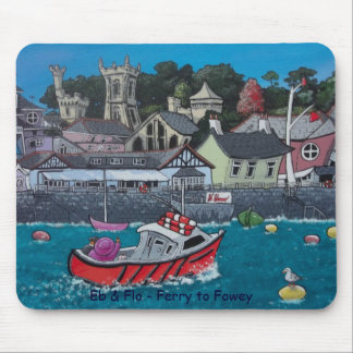 Eb & Flo - Ferry to Fowey Mouse Mat