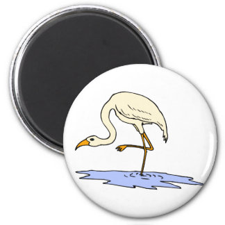 Ebby Egret 6 Cm Round Magnet