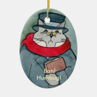 EbeMeowzer Scrooge from a Christmas Carol Christmas Ornament