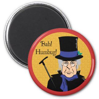 Ebenezer Scrooge 6 Cm Round Magnet