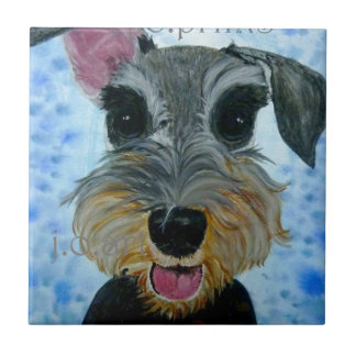 EBfromadSchnauzer2crop8x10.jpg Small Square Tile