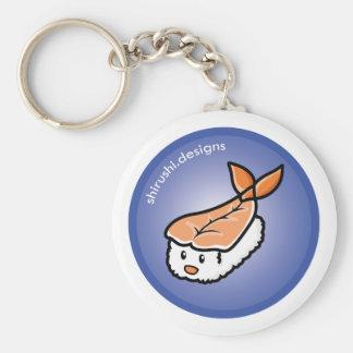 Ebi Sushi Basic Round Button Key Ring