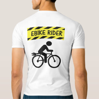 """Ebike rider"" cycling active tops for him"