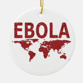 Ebola Virus Round Ceramic Decoration