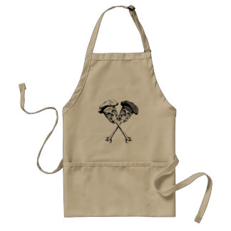 Ebony and Ivory Chef Skulls Standard Apron