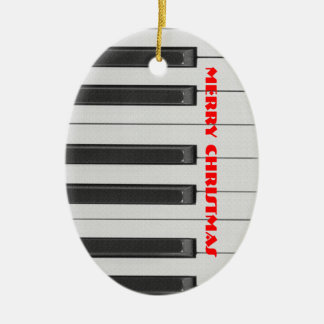Ebony and Ivory Christmas Ornament