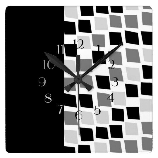 Ebony and Ivory Wall Clocks