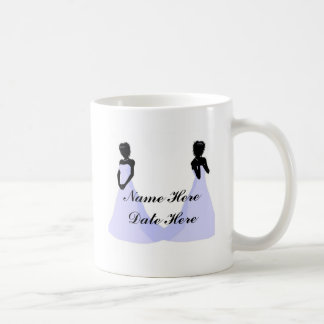 Ebony Bride Custom Shower Favors Mugs