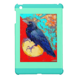 Ebony Crow & Egg w/Turquoise by Sharles iPad Mini Cover